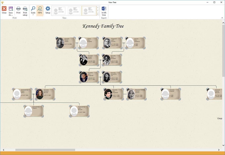 visio genealogy template